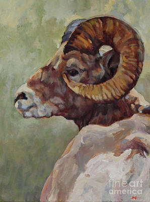 Big Horn In Sage Poster by Patricia A Griffin