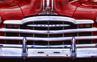 Big Red Pontiac Poster by Carol Leigh