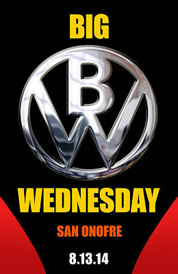 Big Wednesday 2014 Poster Poster by Ron Regalado