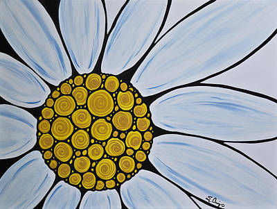 Big White Daisy Poster by Sharon Cummings