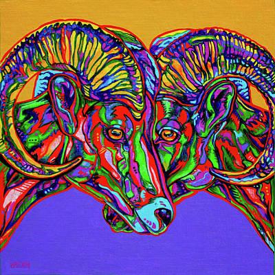 Bighorn Sheep Poster by Derrick Higgins