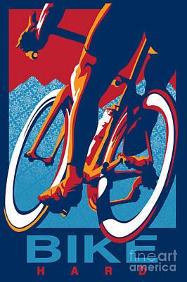 Bike Hard Poster by Sassan Filsoof
