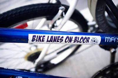 Bike Lanes On Bloor Poster by Tanya Harrison