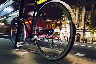 Bike On Whitehall Street Poster by Joseph S Giacalone