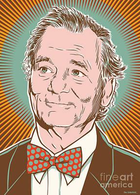 Bill Murray Pop Art Poster by Jim Zahniser