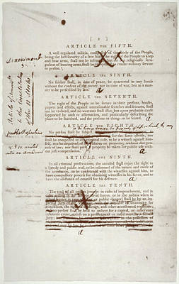 Bill Of Rights, 1789 Poster by Granger
