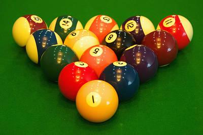 Billiard Game Balls Poster by Guang Ho Zhu