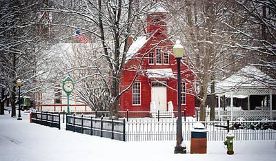 Billie Creek Village Winter Scene Poster by Virginia Folkman