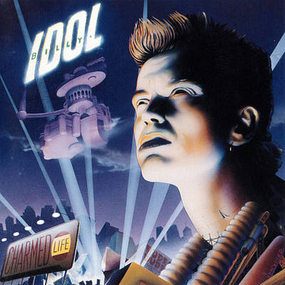Billy Idol - Charmed Life 1990 Poster by Epic Rights