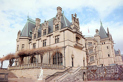 Biltmore Estates Mansion - American Castles - Asheville North Carolina Biltmore Mansion Poster by Kathy Fornal