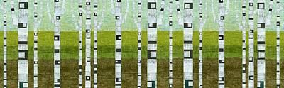 Birches In Summer Poster by Michelle Calkins