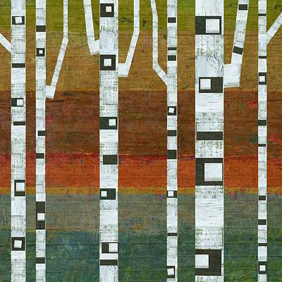 Birches Poster by Michelle Calkins