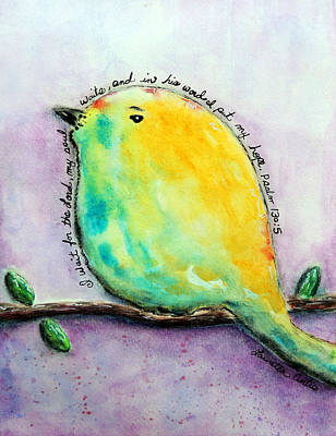 Bird Of Hope Poster by Lauretta Curtis
