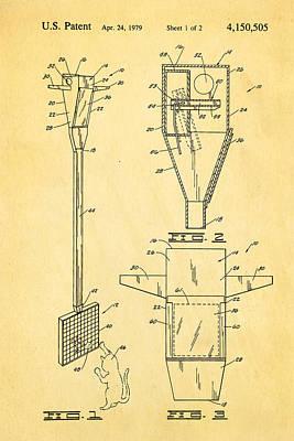 Bird Trap Cat Feeder Patent Art 1979 Poster by Ian Monk