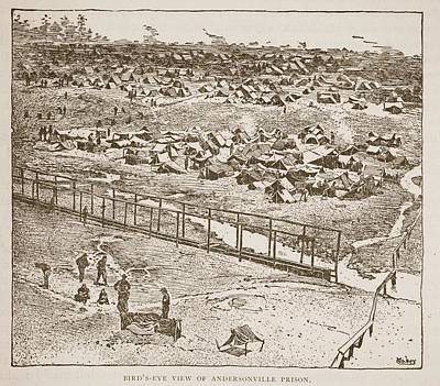 Birds-eye View Of Andersonville Prison Poster by American School