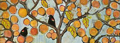 Birds In Paris Landscape Poster by Blenda Studio
