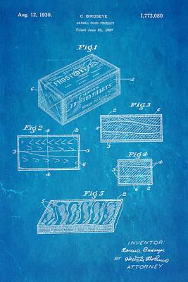 Birdseye Frozen Food Patent Art 1930 Blueprint Poster by Ian Monk