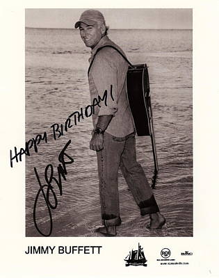 Birthday Wishes From Jimmy Buffett Poster by Desiderata Gallery