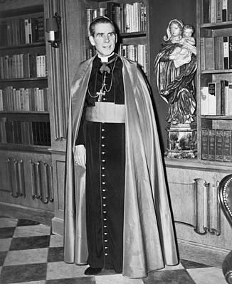 Bishop Fulton J. Sheen Poster by Fred Palumbo