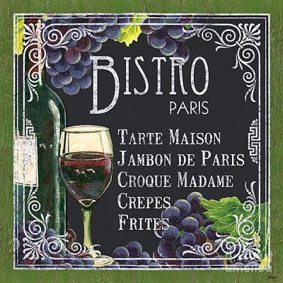 Bistro Paris Poster by Debbie DeWitt