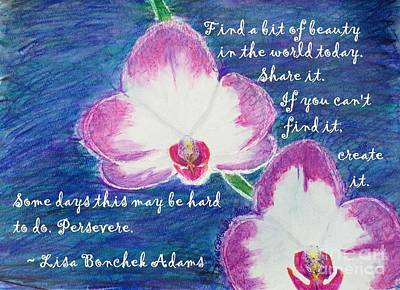 Orchid Poster featuring the painting Bit Of Beauty For Lisa by Denise Railey