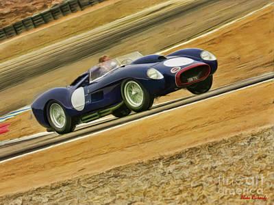 Black 1957 Ferrari 250 Testa Rossa Poster by Blake Richards