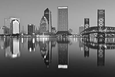 Black And White Jacksonville Poster by Frozen in Time Fine Art Photography