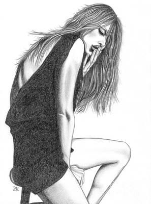 Black And White Model Poster by Snezana Kragulj
