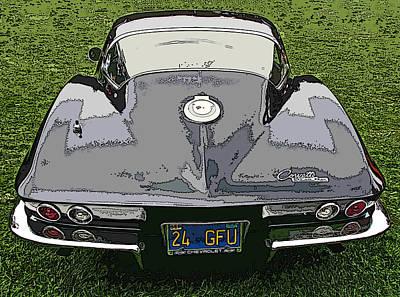 Black Chevy Corvette Stingray Poster by Samuel Sheats