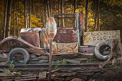 Black Hills Gold Truck Sign Poster by Randall Nyhof