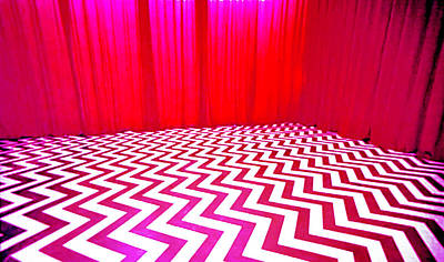Black Lodge Magenta Poster by Luis Ludzska