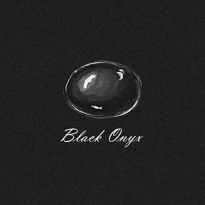 Black Onyx Cabochon Black Poster by Marie Esther NC