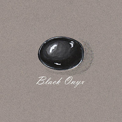 Black Onyx Cabochon Poster by Marie Esther NC