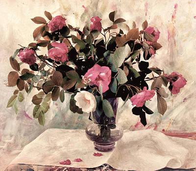 Black Tie Roses Poster by Bernie  Lee