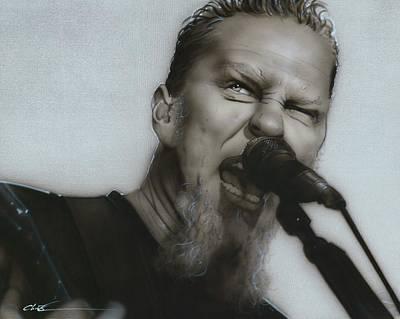 James Hetfield - ' Blackened ' Poster by Christian Chapman Art