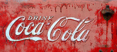 Bleeding Coke Red Poster by David Lee Thompson