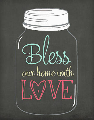 Bless Our Home Poster by Jo Moulton