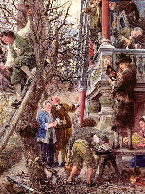 Blessed Are Those That Have Poster by Adolph von Menzel