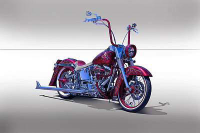 Bling Bling Studio Bike Poster by Dave Koontz