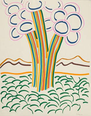 Imaginary Vegetation Poster by Rick Stecz