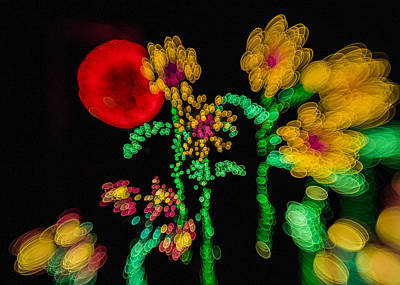 Blooming Lights Are Such A Blur Poster by Scott Campbell
