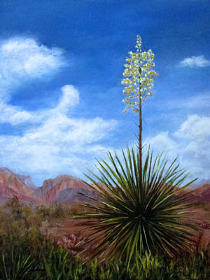 Blooming Yucca Poster by Roseann Gilmore