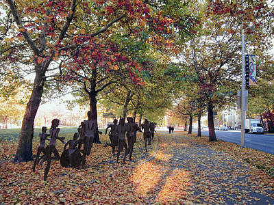 Bloomsday Autumn Finish - Spokane Washington Poster by Daniel Hagerman