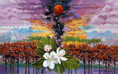 Blossoming Universe Poster by John Lautermilch