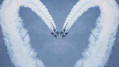 Blue Angels Love Poster by Dale Kincaid