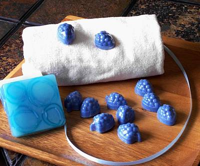 Blue Berries Mini Soaps Poster by Anastasiya Malakhova