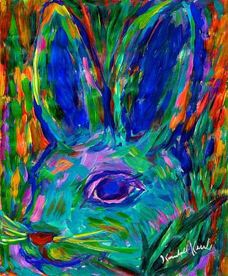 Blue Bunny Poster by Kendall Kessler