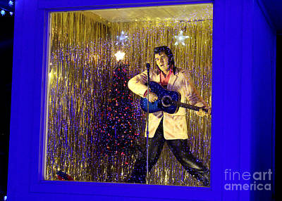 Blue Christmas Without Elvis Poster by Kathy  White
