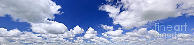 Blue Cloudy Sky Panorama Poster by Elena Elisseeva