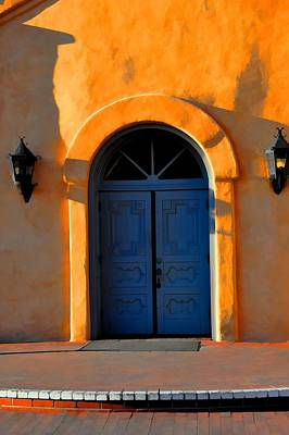 Blue Door In Old Town Poster by Jan Amiss Photography